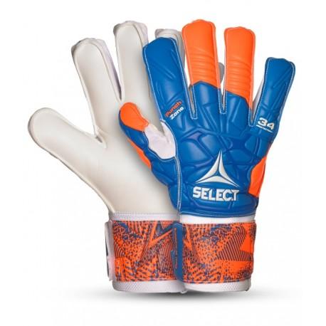 Rękawice bramkarskie Select 34 Protection Flat Cut szyna ochrona palców