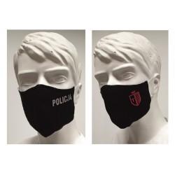 Maseczka na usta i nos do sportu z herbem klubu / napisem wielokrotnego użytku