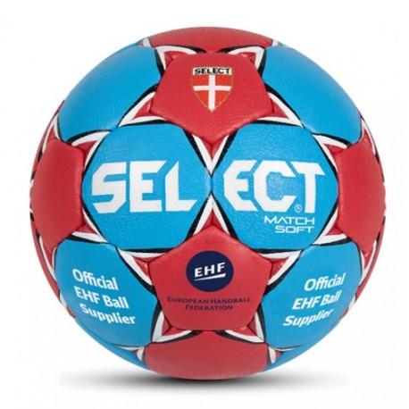 Piłka ręczna Select Match Soft 2014 zielony / żółty