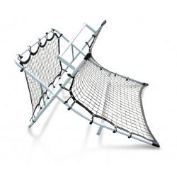 Rebounder (rama z siatką) ściana + fala Yakimasport
