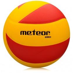 Piłka siatkowa Meteor Chili żółto - czerwona