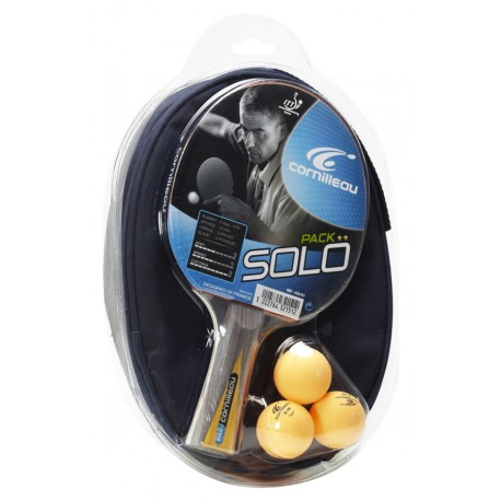 Cornilleau zestaw rakietka Solo + pokrowiec + 3 piłeczki OUTLET